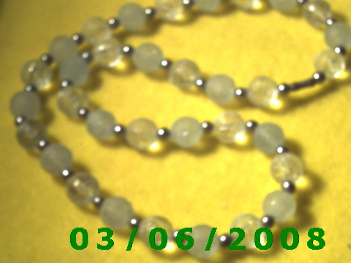 """24"""" Bead Necklace w/Screw Connector (023)"""