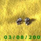 .925 Silver Earrings w/opal stone (009)