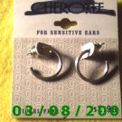 Silver Pierced Earrings Nickel Free (001)