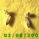 Gold Plated Pierced Earrings (011)