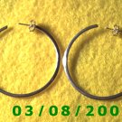 "Silver Hoop Earrings 1 3/4"" (012)"