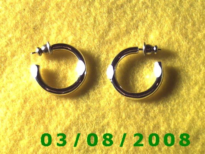 """Silver Hoop Earrings 3/4"""" (014)"""