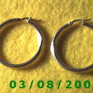 "Silver Hoop Earrings 1 1/2"" (015)"