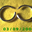 "2"" Silver Hoop Pierced Earrings (032)"