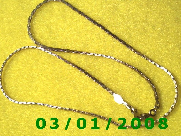 """Vintage 16"""" Gold Plated 50's Necklass (008)"""