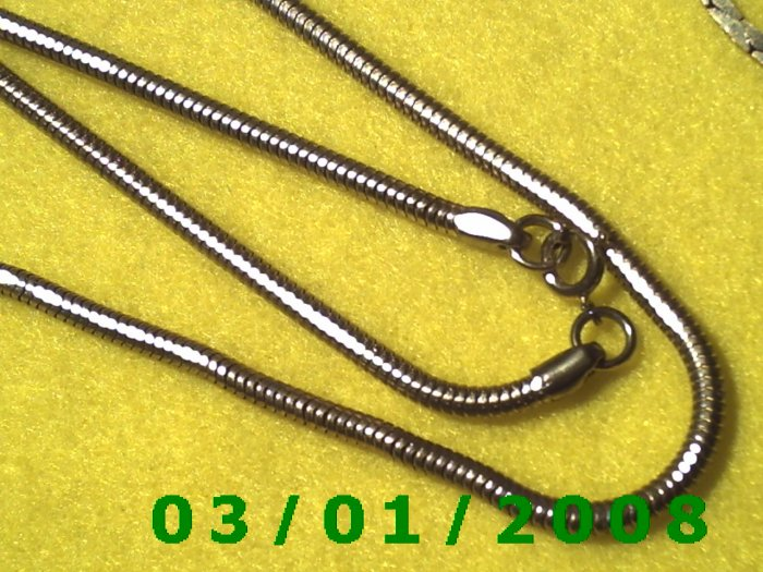 """Vintage  18 1/2"""" Gold Plated 50's Necklass (013)"""