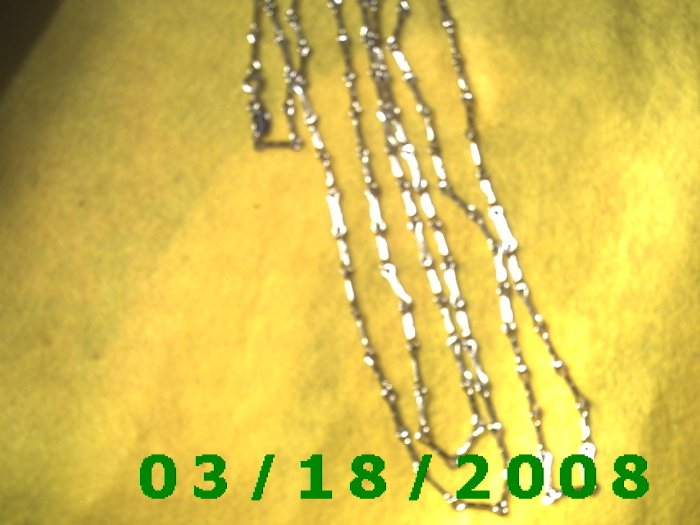 """54"""" 2mm Silver Necklace  (006)"""