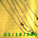 "53"" 3mm Gold Necklace (007)"