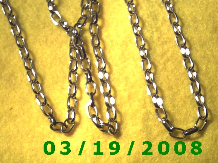 """36"""" 5mm Silver Necklace (017)"""