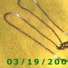"15"" 2mm Gold Necklace  (E-3002)"