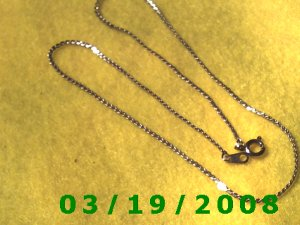 "15"" 2mm Gold Necklace  (E-3002)"