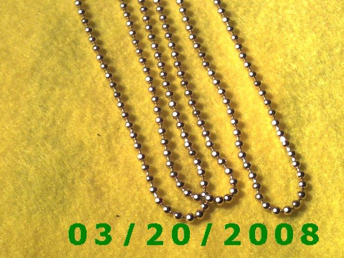 "36"" 4mm Gold Necklace  (E-4006)"