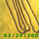 "36"" 4mm Gold Necklace  (E-4006)"