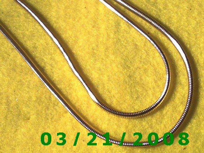 "18"" 3mm 2 Strand Gold Necklace, Adjustable  (E-4015)"