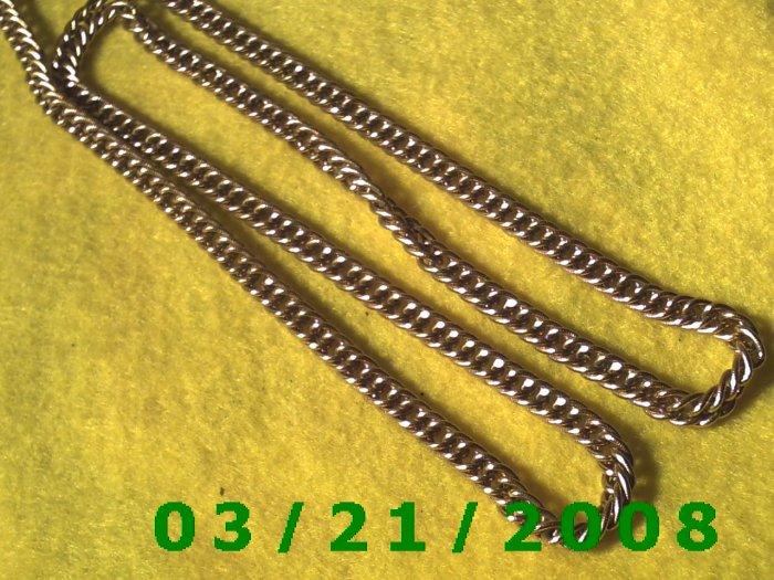 "23"" 5mm Gold Necklace  (E-4018)"