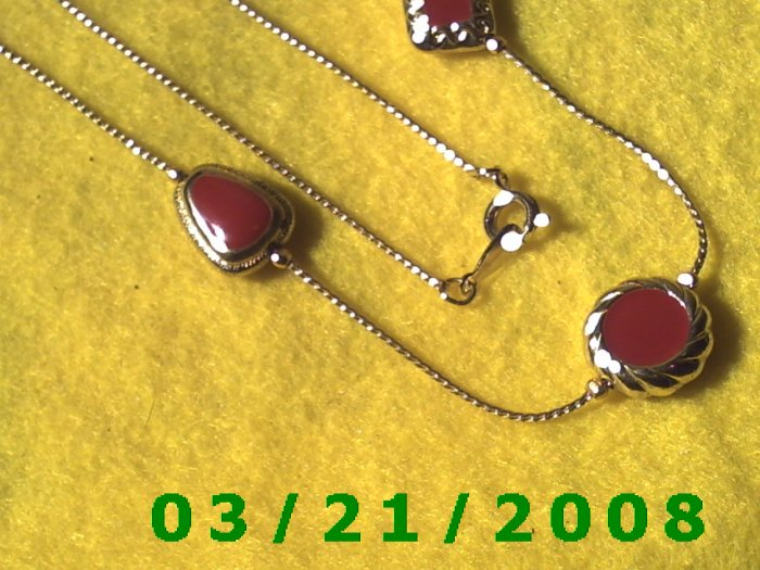 """24"""" 1mm Gold Necklace w/Beads  (E-4019)"""