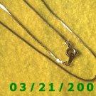 "24"" 1mm Gold Necklace  (E-4020)"