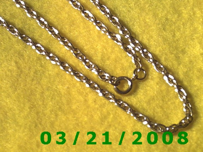 "24"" 4mm Gold Necklace  (E-4021)"