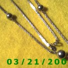 "26"" 2mm Silver Necklace w/Silver Beads (Avon)  (E-4022)"