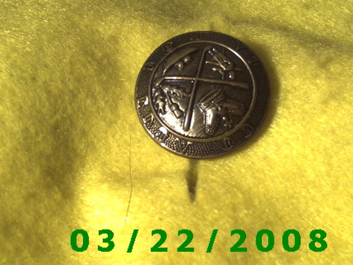"""1 1/4"""" Bronze Button, Plastic  (R001)"""