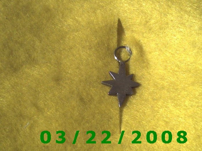 """5/8 x 7/8"""" .925 Silver Star   (R003)"""