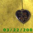 """1 x 1"""" Silver Heart Charm   (R004)"""