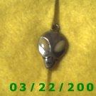 """9/16 x 1"""" Silver Marsian pendant  (R012)"""