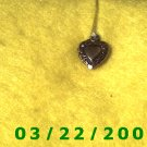 """11/16"""" Silver Heart Charm  (R013)"""