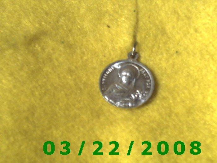 "5/8"" Silver St John & St Philomena, French Charm  (R019)"