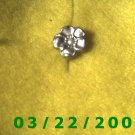 "1/2"" Silver Flower Button  (R024)"