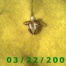 "1/2"" Gold Charm w/pearl  (R025)"