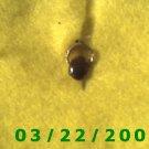 Gold Charm w/Brown Stone  (R026)