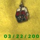 "1"" Silver Christmas Present Charm  (R028)"