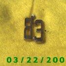 """7/8"""" Silver Charm w/83  (R030)"""