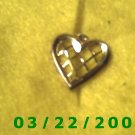 """3/4"""" Gold Heart Charm  (R034)"""