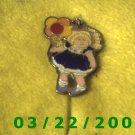 "1 1/4"" Silver Charm (Little Blond Headed Girl w/Baloons  (R037)"
