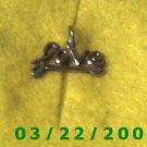 """25/16 x 1/2"""" Silver Love Charm  (R038)"""