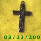 "3/4 x 1 1/4"" Silver Cross Charm  (R040)"