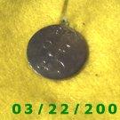 """1 1/4"""" Silver Charm w/1974 """"J""""   (R041)"""