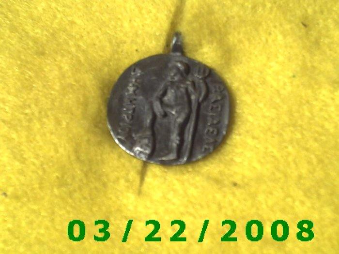 """15/16"""" Silver Charm w/Greek Writing  (R042)"""