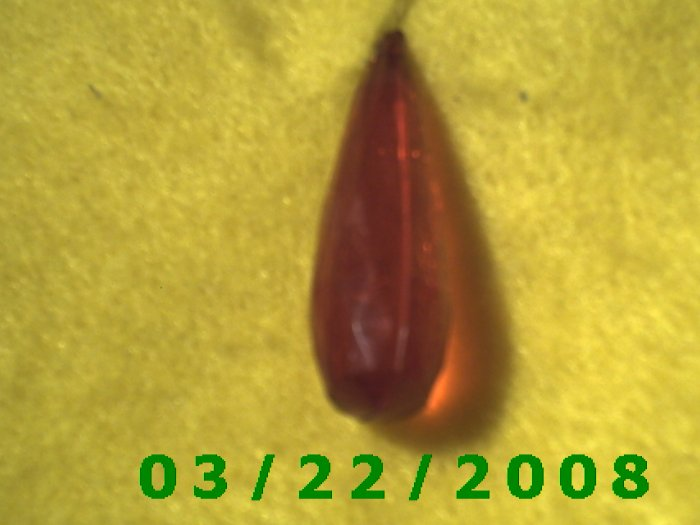 "1/2 x 1 1/2"" Ruby Crystal Charm  (R047)"