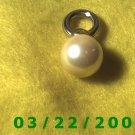 "11/16 x 1 3/8"" Gold Charm w/Pearl  (R049)"