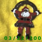"2 3/8 x 3 1/4"" Silver Santa Clause w/from Timothy Frey  (R055)"