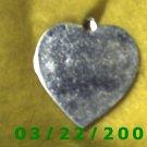 """1 3/16 x 1 1/4"""" Silver Heart Charm  (R059)"""