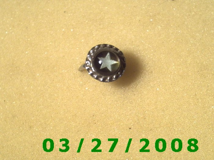 Mood Rings Adjustable (Glow in the Dark).....(Star)   (001)