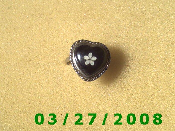 Mood Rings Adjustable (Glow in the Dark).......(Heart) (002)