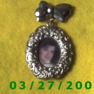 Silver Oval Picture Frame Pin  (001)