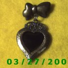 Bronze Heart Picture Frame Pin  (002)