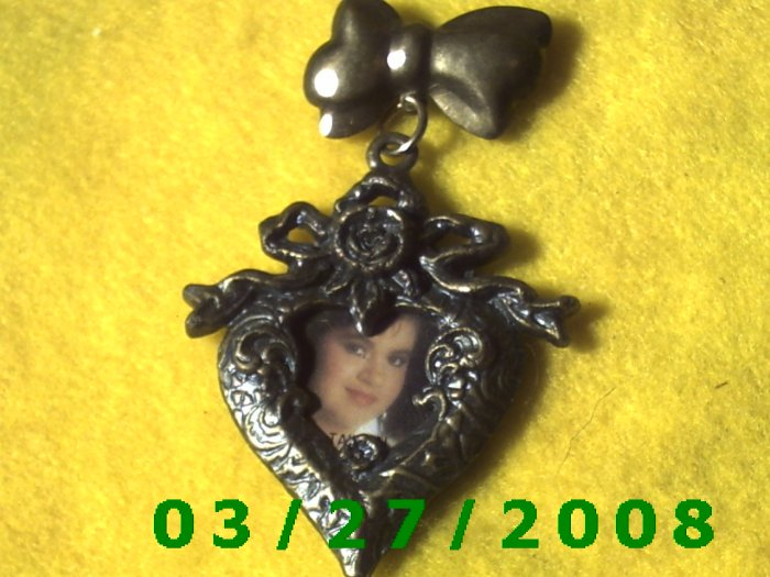 Bronze Heart Picture Frame Pin  (003)