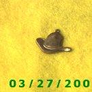 Brass Cowboy Hat Charm  (038)